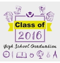 High school graduation Class of 2016 vector image
