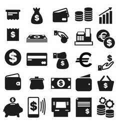 icons money cards finance purchase calculation vector image
