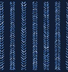 Indigo blue graphic herringbone stitch seamless vector