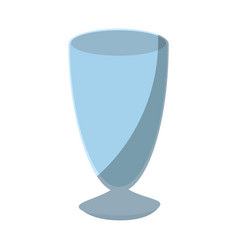 isolated glass cup vector image