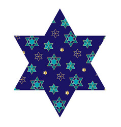 Jewish star with pattern vector