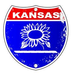 Kansas interstate sign vector