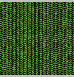 Knit texture green color seamless pattern fabric vector