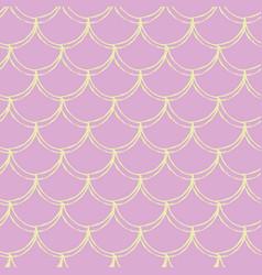 little mermaid seamless pattern vector image
