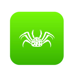 Live crab icon digital green vector