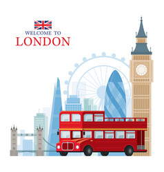london england and united kingdom travel and vector image
