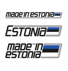 Made in estonia vector