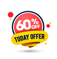 modern today offer mega sale up to 60 off tag vector image