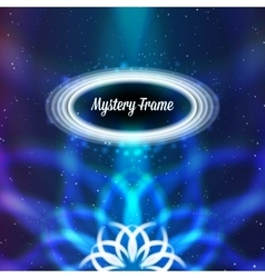 Mystic shiny card with ornament and color vector image