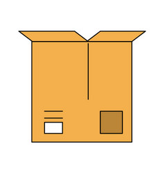 open cardboard box icon image vector image