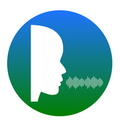 people speaking or singing sign white vector image