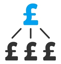 Pound financial structure flat icon symbol vector