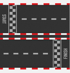 Rally races line track or road marking car or vector