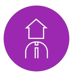 Real estate agent line icon vector