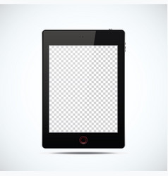 Realistic tablet in black with transparent screen vector