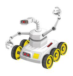 robot on wheels vector image