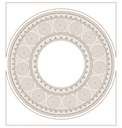 Round mosaic ornament colorless vector