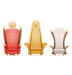 Royal throne king ruler fairytale armchair cartoon vector