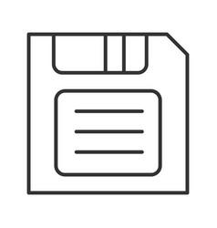 Save button linear icon vector