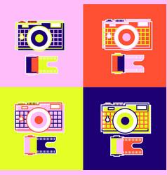 set abstract camera vector image