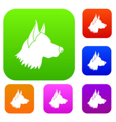 Shepherd dog set collection vector