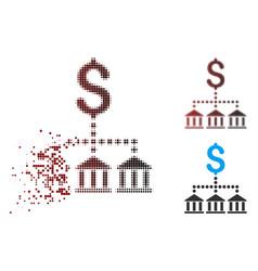 Shredded pixel halftone bank scheme icon vector