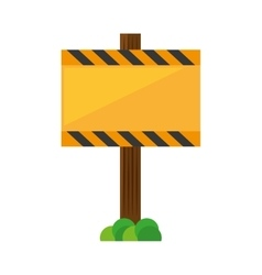 sign road rectangle caution yellow empty with vector image