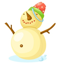 Snow Man vector image