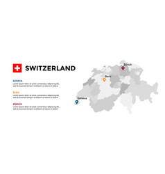 Switzerland infographic template slide vector