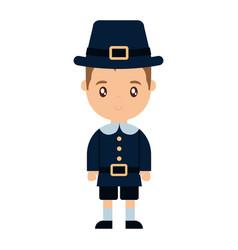 Thanksgiving pilgrim design vector