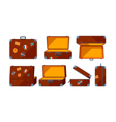travel case various views of travel case vector image