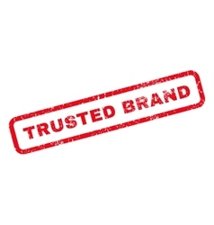 Trusted Brand Rubber Stamp vector image