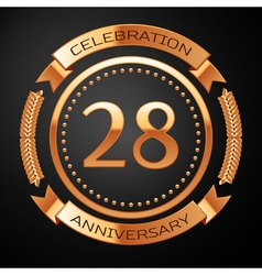 Twenty eight years anniversary celebration with vector image vector image