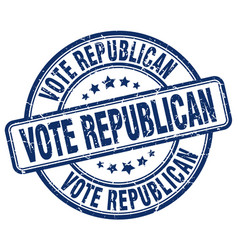 Vote republican stamp vector
