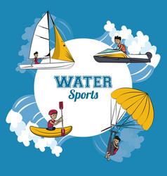 Water sports cartoon vector
