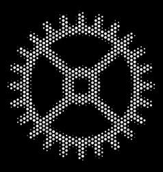 white dot clock gear icon vector image