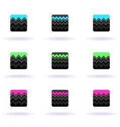 zigzag icons vector image