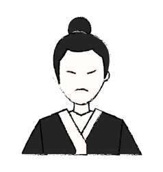 character japanese man clothes culture vector image vector image