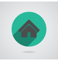 House abstract real estate countryside logo design vector image