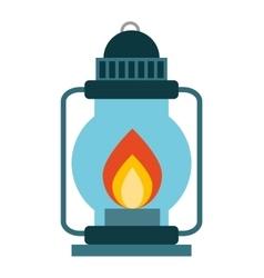Lamp fire kerosene icon vector