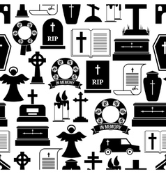 RIP and funeral background pattern vector image vector image