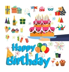 Set of birthday party elements Designer vector image