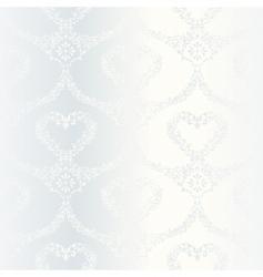 Victorian white satin wedding pattern vector image vector image