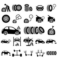 Auto repair Icons vector image vector image