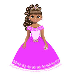 beautiful princess with diadem vector image vector image