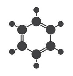 benzene molecular model vector image vector image