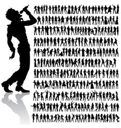dancing and singing people big set vector image vector image