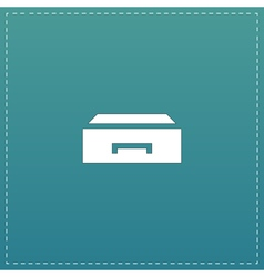 Drawer icon vector