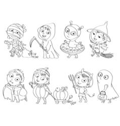 Happy Halloween Coloring book vector image vector image