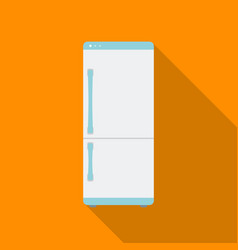 refrigerator icon in flat style isolated on white vector image